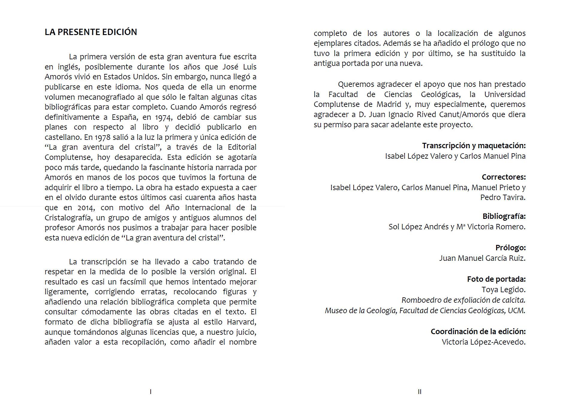 La presente edición - Victoria López-Acevedo